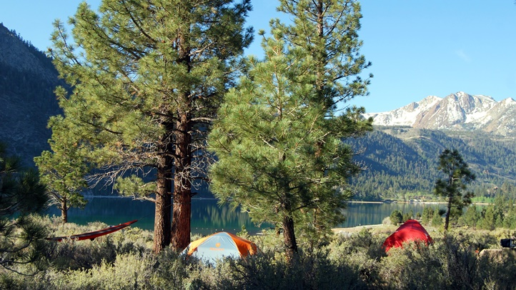 Oh Ridge Campground overlooking June Lake photo credit Alicia Vennos and Mono County Tourism