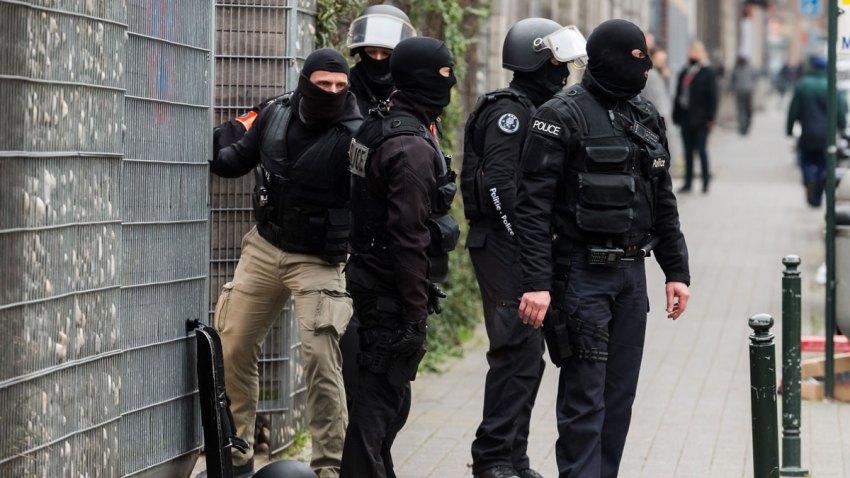 APTOPIX Belgium Police Search
