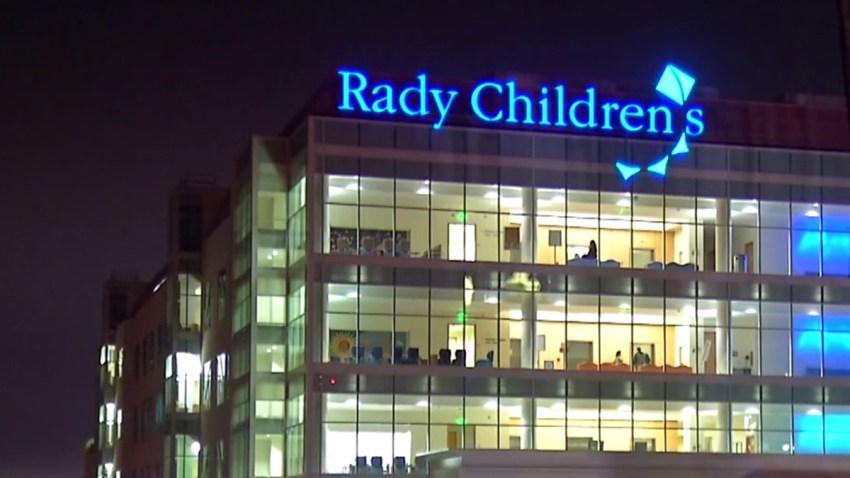 Rady Children's Hospital at night