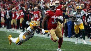 San Francisco 49ers Running Back Raheem Mostert