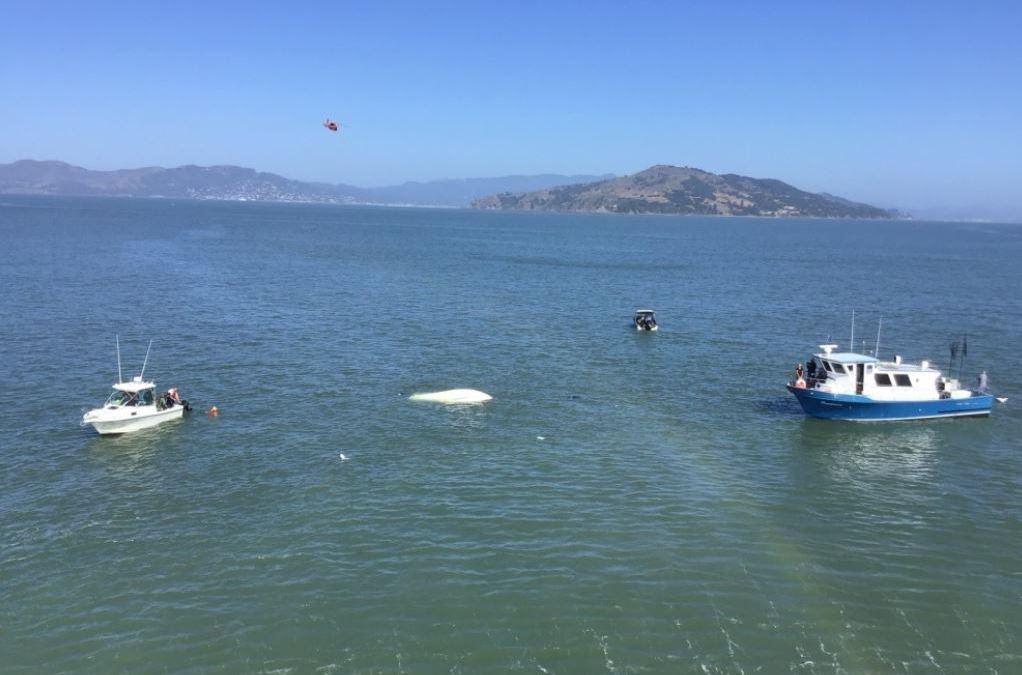 3 People Rescued After Boat Capsizes Near Treasure Island