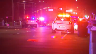 Authorities work at the scene of a fight and shooting in San Jose.