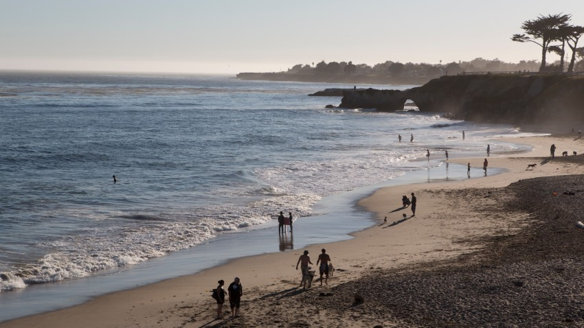 File image of a beach in Santa Cruz