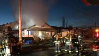 A vacant home caught on fire in Santa Rosa.