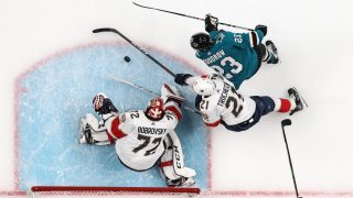 Barclay Goodrow #23 of the San Jose Sharks
