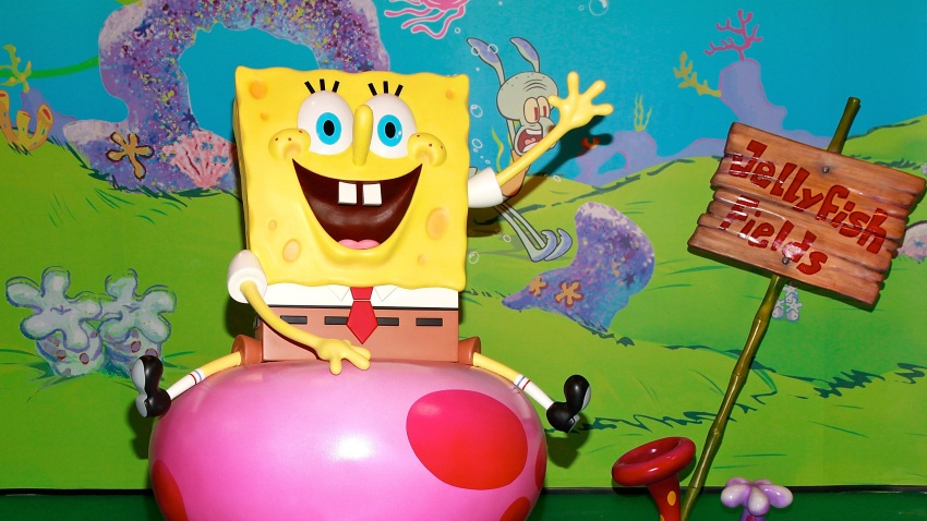 In this July 15, 2009, file photo, the cartoon character Spongebob Squarepants wax figure is unveiled at Madame Tussauds in New York City.