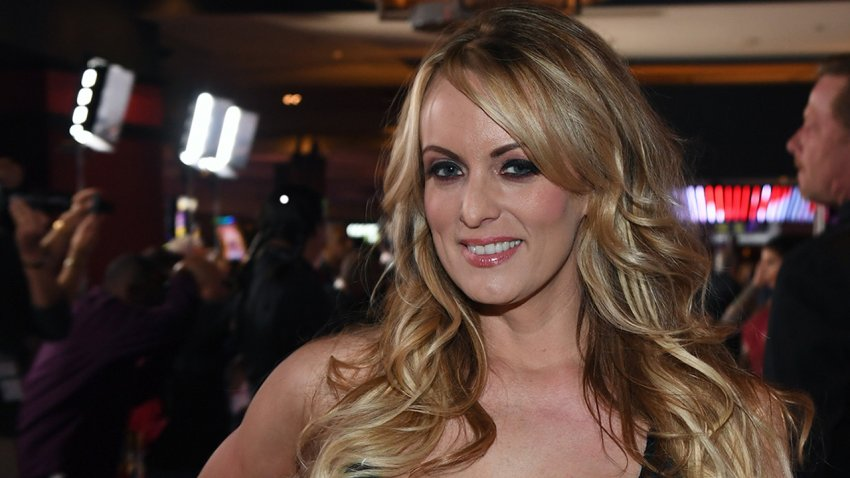 In this Jan. 27, 2018, file photo, adult film actress/director Stormy Daniels attends the 2018 Adult Video News Awards at the Hard Rock Hotel & Casino in Las Vegas, Nevada.