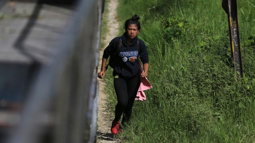 Mexico Migrants Train
