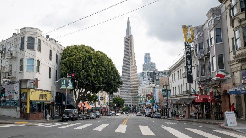 The TransAmerica Building in San Francisco.
