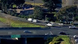 Authorities work at the scene of a deadly crash in Vallejo.
