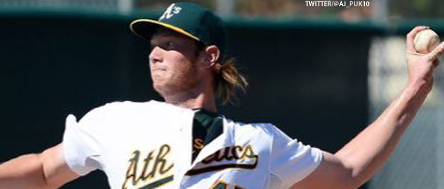 [CSNBY] A's top pitching prospect makes big rise in latest rankings