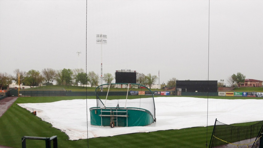 [CSNBY] A's spring training Day 5: Rainfall makes for short workout