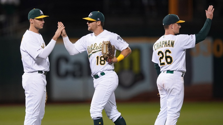 [CSNBY] A's vs. Cubs lineups: Khris Davis out again as Jon Lester takes the mound