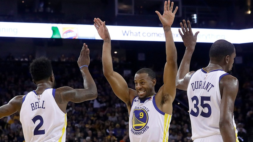 [CSNBY] In Splash Brothers absence, Bell and Iguodala return to Warriors