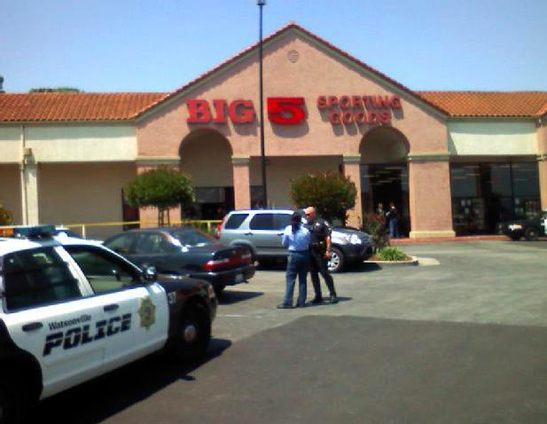 Big Five Store Shooting Scene Watsonville