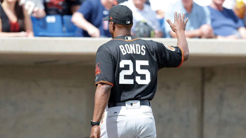 [CSNBY] Bonds dusts off swing, cracks home run during BP in Giants' camp