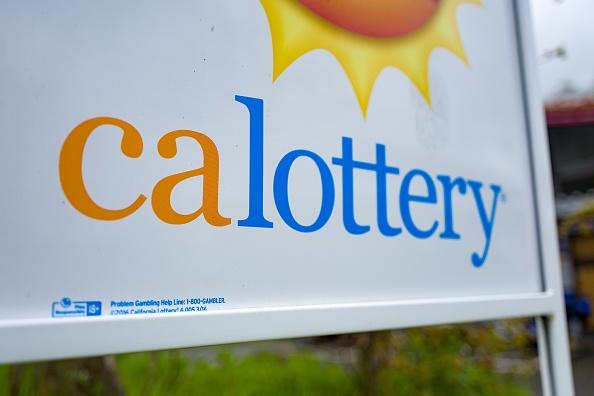California Lottery sign.
