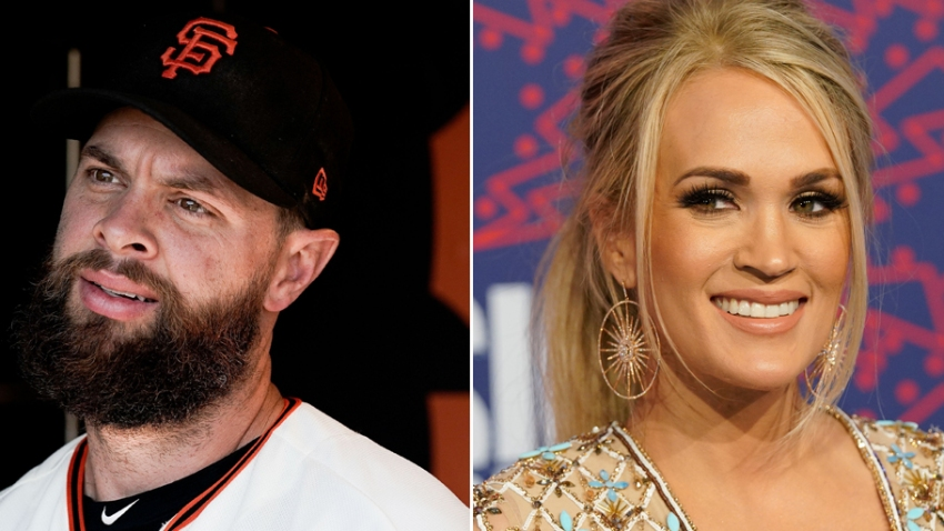 [CSNBY] Brandon Belt shares hilarious Carrie Underwood story off Topps baseball card