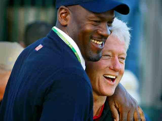 Bill Clinton and Michael Jordan