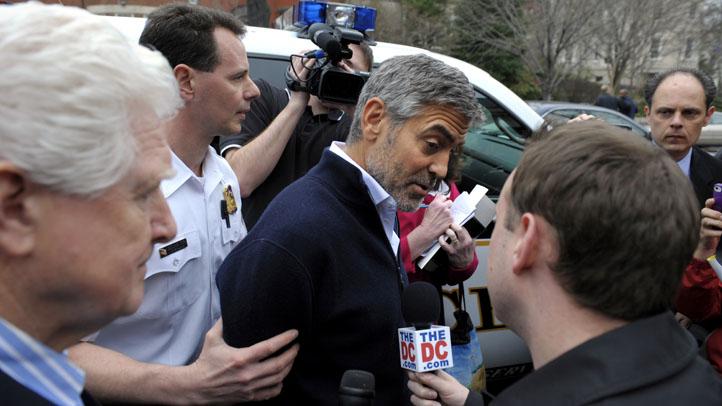 Clooney Sudan Embassy Protest