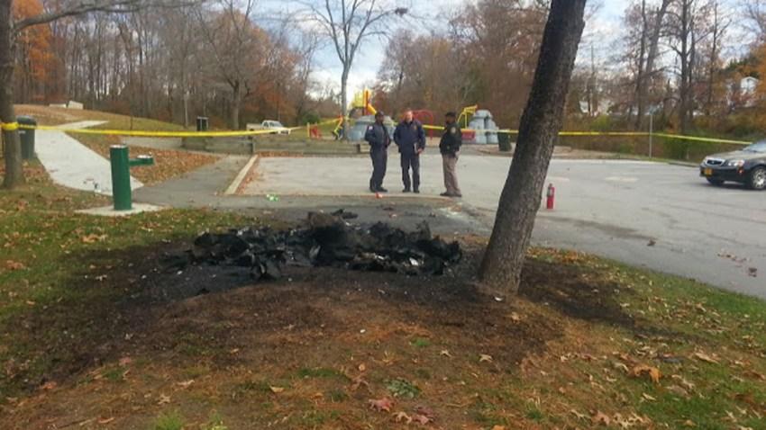 college park porta potty fire