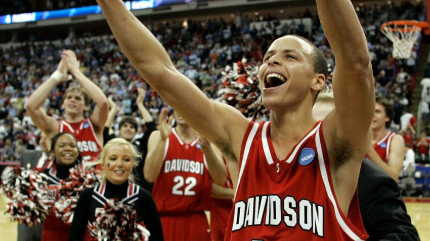 [CSNBY] Steph Curry loses his mind after Davidson makes NCAA Tournament