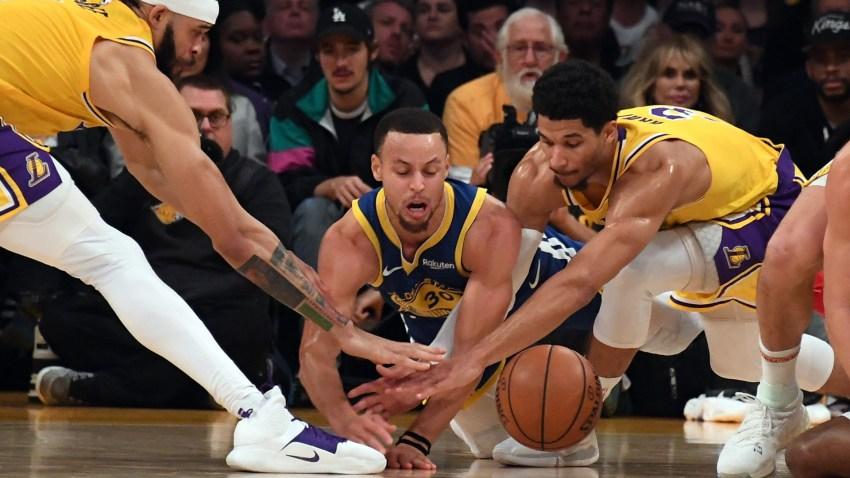 [CSNBY] Steph Curry blames LA Kings for slip on breakaway dunk vs. Lakers