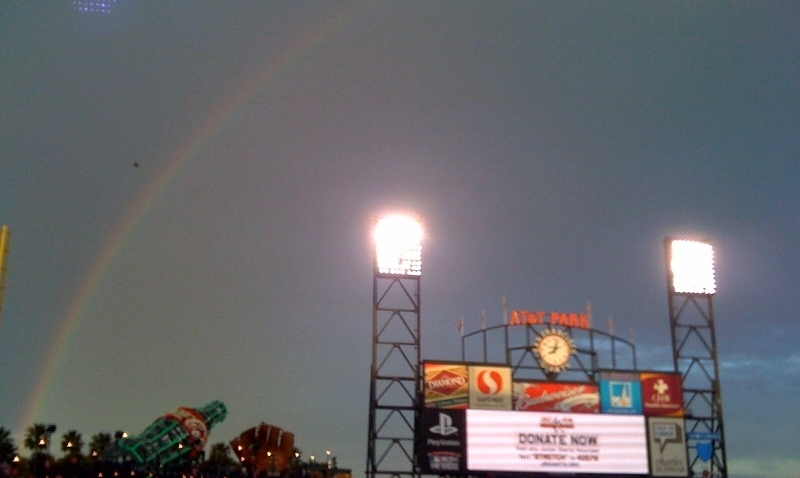 Rainbow over AT&T Park