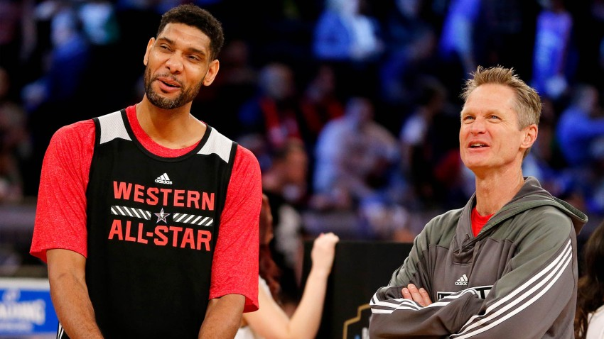 [CSNBY] Steve Kerr gives hilarious reaction to Spurs hiring Tim Duncan as coach