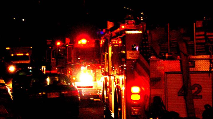 fire truck night