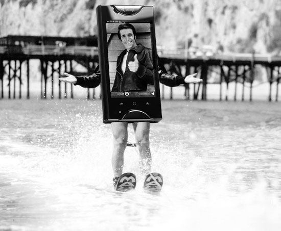 Fonzi Jump the Shark Cell Phone