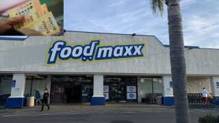 The front of a Food Maxx store in San Leandro.