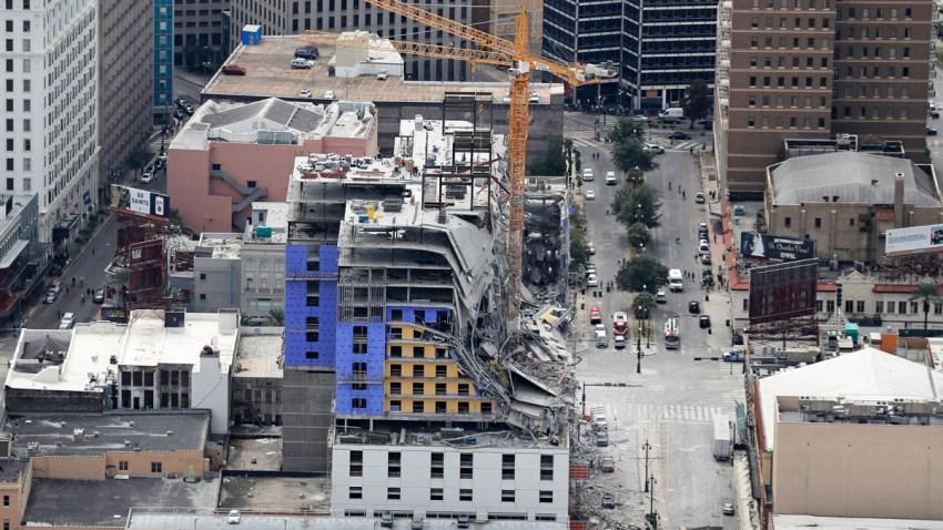 APTOPIX Hotel Collapse