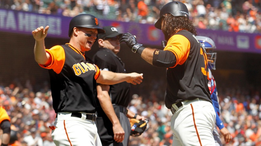 [CSNBY] Giants use four-run first inning to take down Rangers