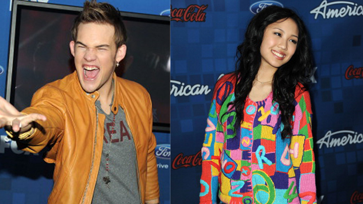 American Idol Finalist James Durbin or Thia Megia