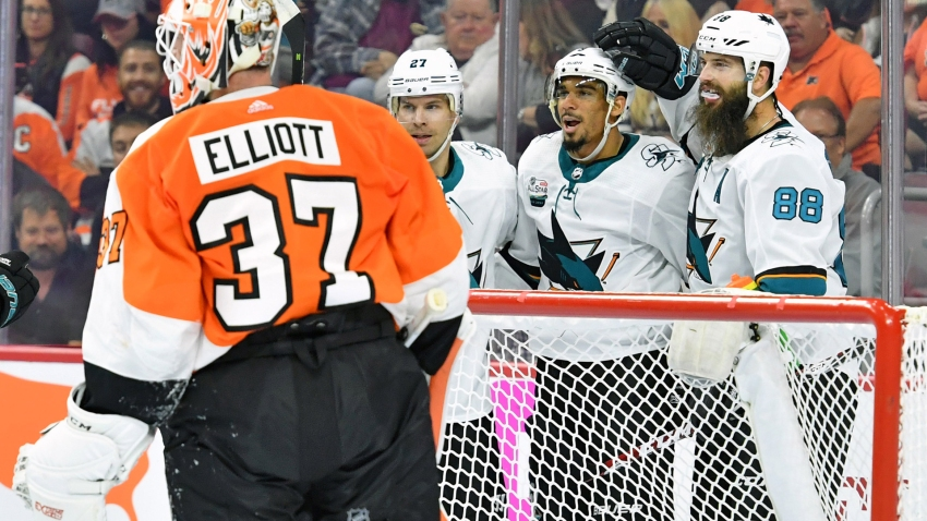 [CSNBY] Sharks bounce back with gritty 8-2 demolition of Flyers