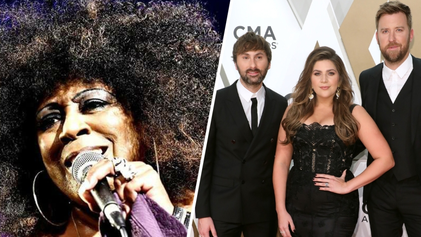 Blues singer Lady A, left; Dave Haywood, Hillary Scott and Charles Kelley, of the band formerly known as Lady Antebellum, who announced last month they would change their group's name to Lady A.