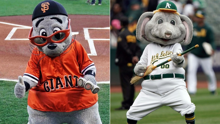 [CSNBY] Giants mascot Lou Seal, A's mascot Stomper have heated Twitter battle