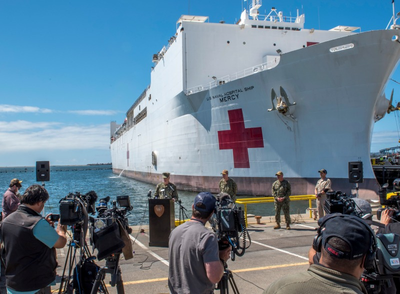 Photos: About the USNS Mercy, the Navy's Floating Hospital Deploying to the Port of LA