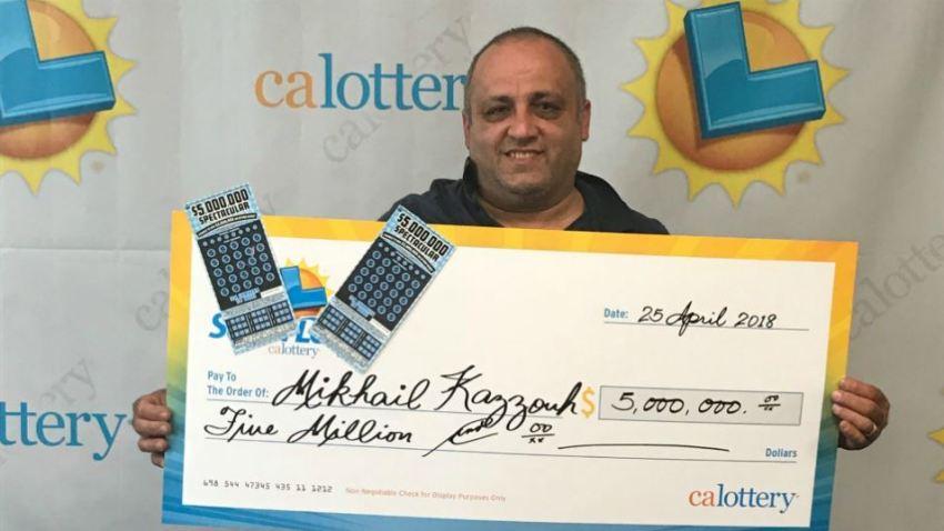 mikhail kazzouh lottery win