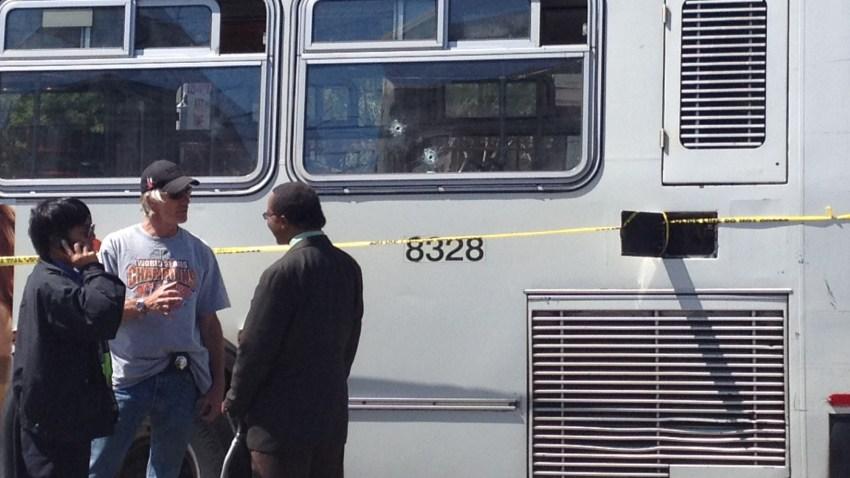 Muni Bus Hit by Bullets