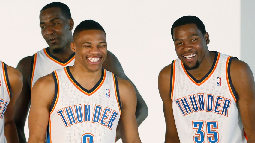 [CSNBY] Kendrick Perkins doubts Durant, Westbrook have 'real beef'