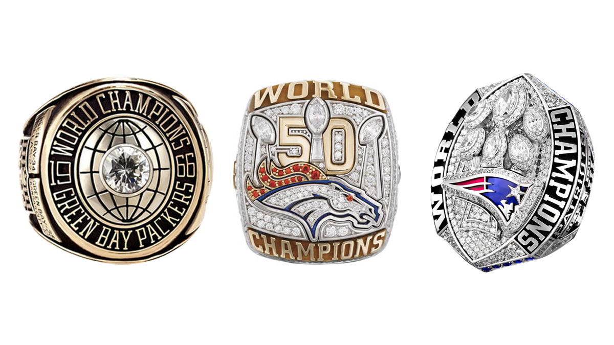 See All 53 Super Bowl Championship Rings From I To Liii Nbc Bay Area