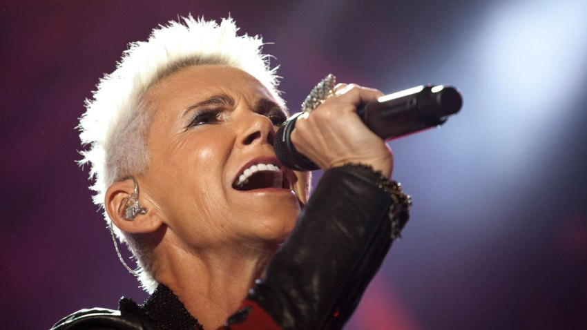 Marie Fredriksson of Swedish Pop band Roxette performs during a concert in Rio de Janeiro, Brazil, Saturday, April 16, 2011.