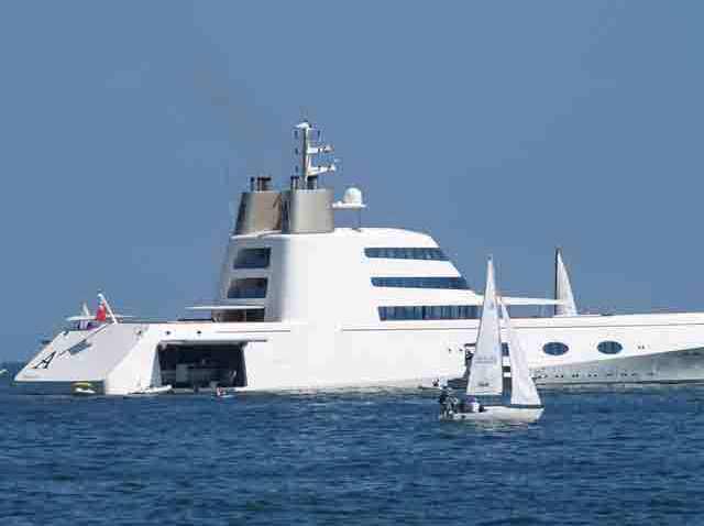 "$300 million Yacht ""A"" in Santa Barbara"