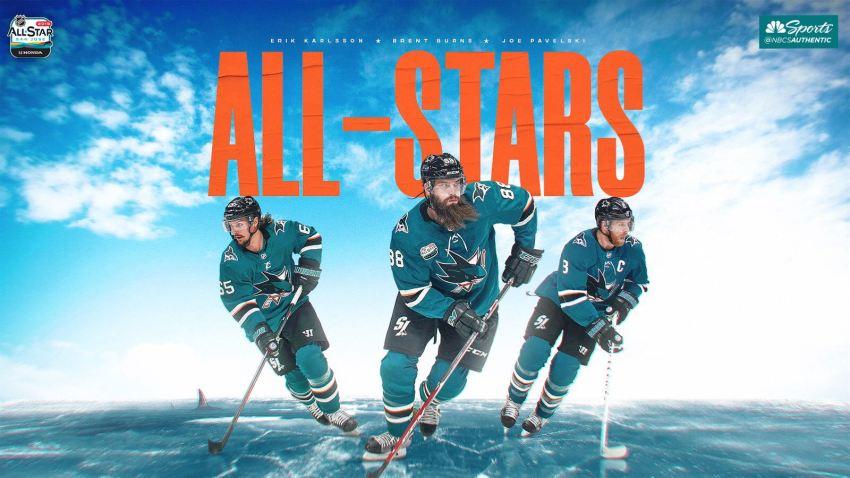 [CSNBY] NHL All-Star Game: Brent Burns, Erik Karlsson, Joe Pavelski to rep Sharks