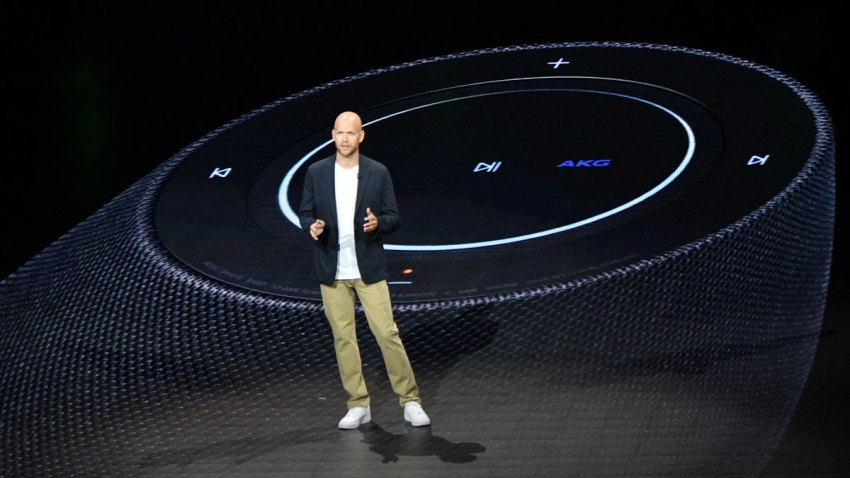 Spotify CEO Daniel Ek speaks onstage during Samsung Unpacked New York City at Barclays Center on Aug. 9, 2018, in Brooklyn.