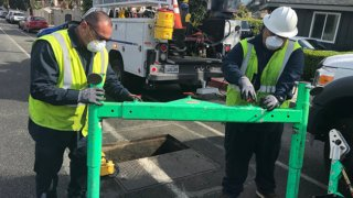Public utility workers