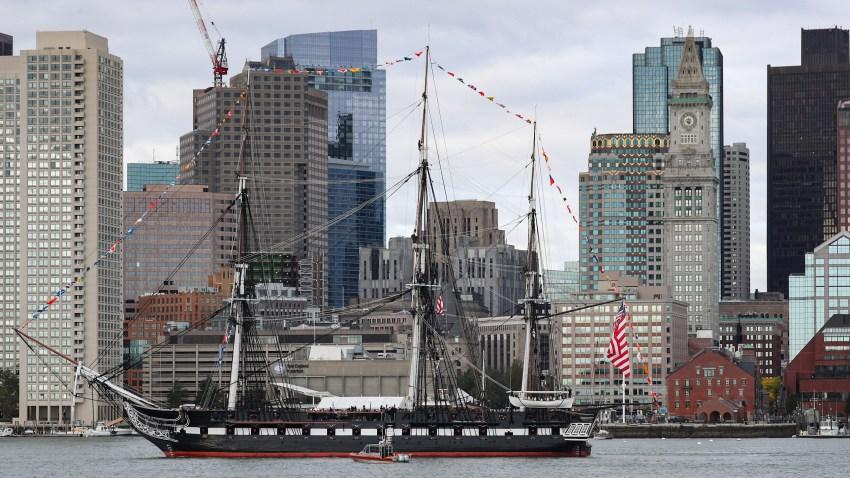 uss constitution at boston harbor 101819