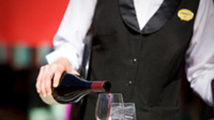 waiter wine bottle